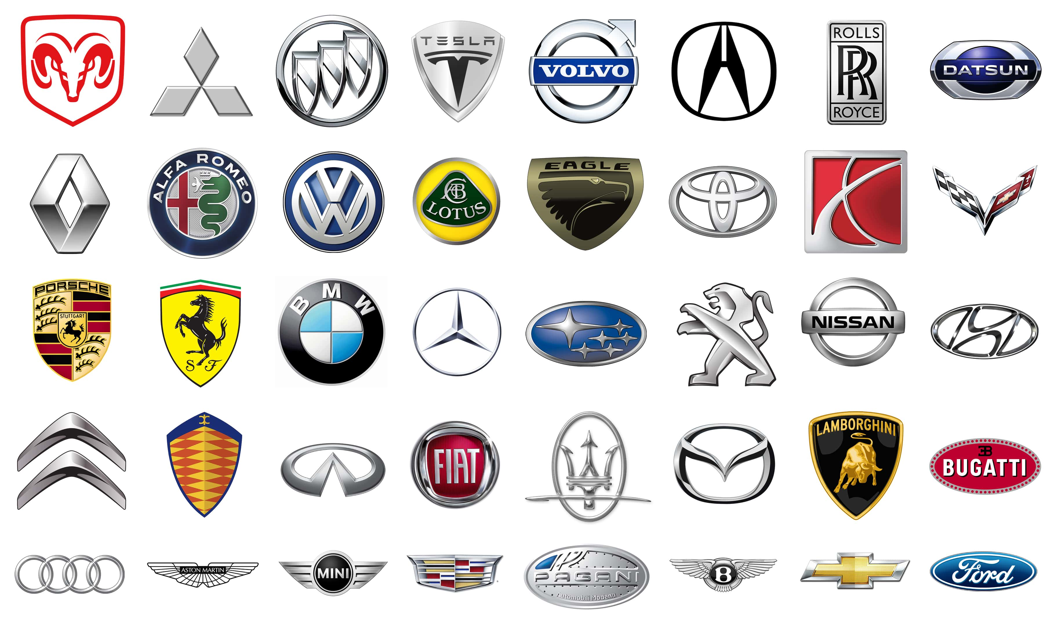 all car brand logos and names in the world cars image 2018