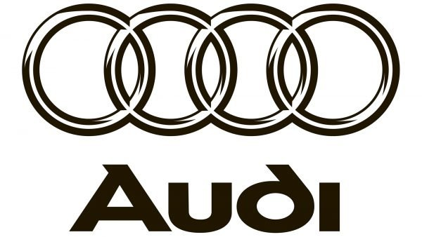 audi logo black and white