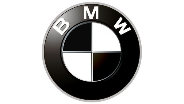 bmw logo black and white