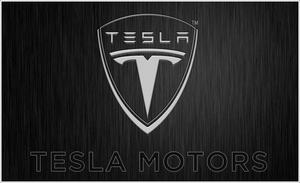 Tesla logo colors