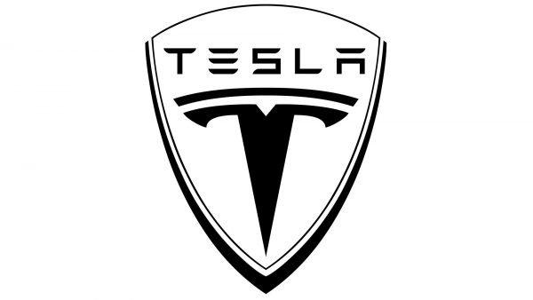 tesla logo black