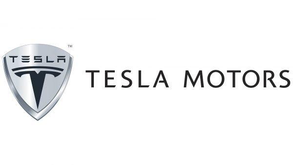 tesla logo white