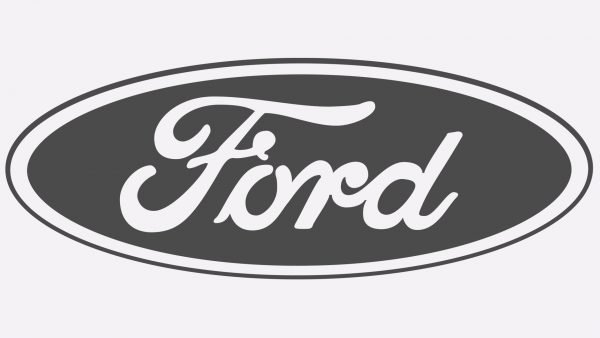 ford logo black and white