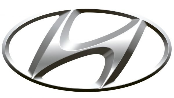 hyundai logo white