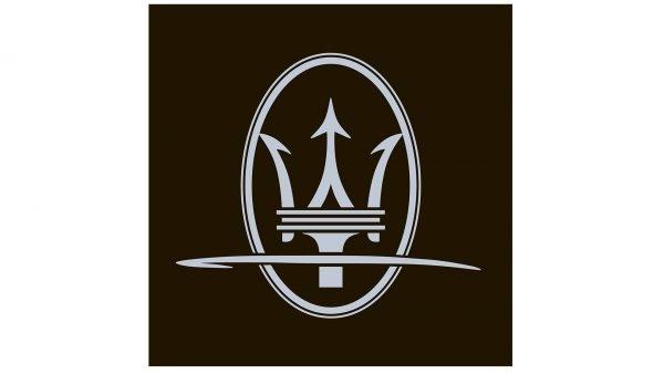 maserati logo white