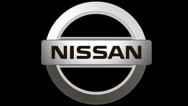 nissan logo black
