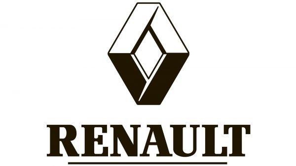 renault logo black