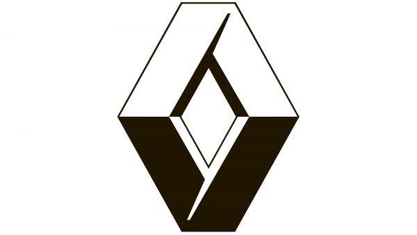 renault logo white