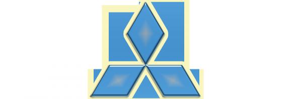 Blue Mitsubishi logo