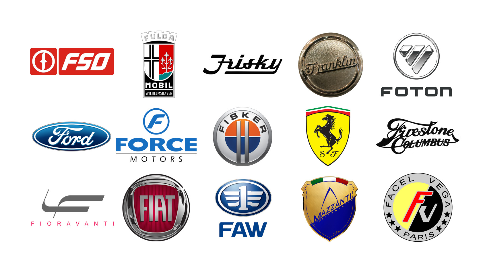 Car Brands Starting With F >> Car Brands With A Z