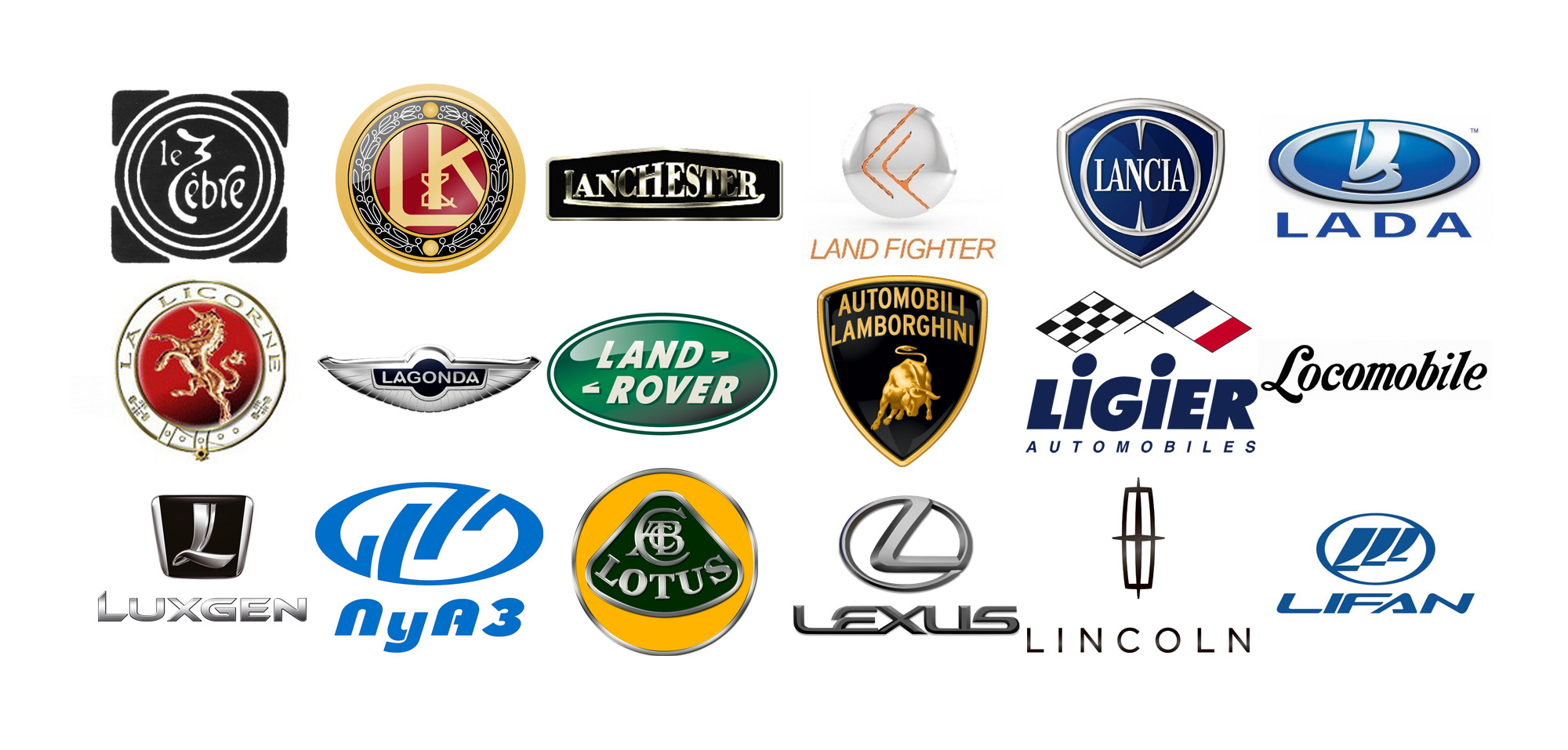 Car Brands Starting With L >> Car Brands With A Z