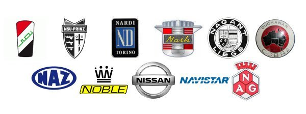 Car brands that start with N