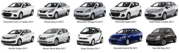 Top 10 the cheapest brand new cars of 2017
