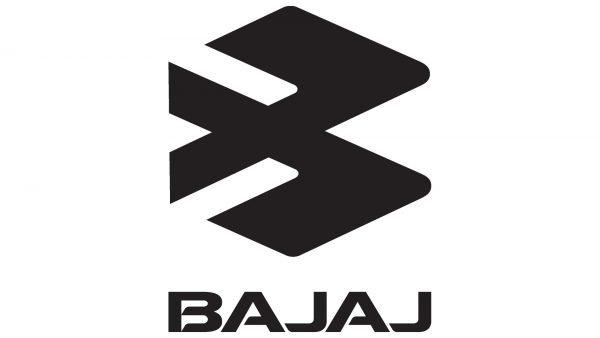 логотип Bajaj черно-белый